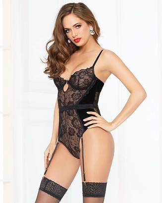 Seven Til Midnight Seven  Til Midnight Velvet and Lace Teddy e89bb2a01