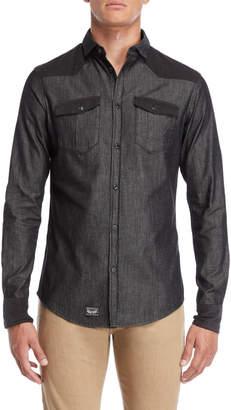 Armani Jeans Slim Fit Removable Collar Shirt