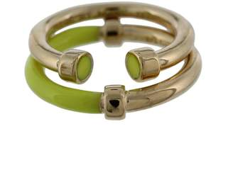 Marc by Marc Jacobs Womens Hula Hoop 2PC Stackable Right-Hand Ring Yellow