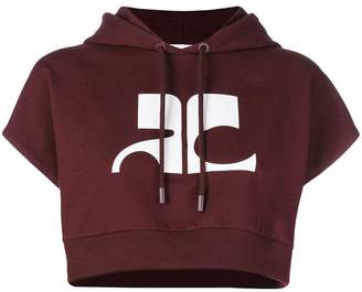 Courreges cropped SL hoodie