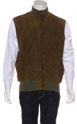 Kiton Suede Button-Up Vest