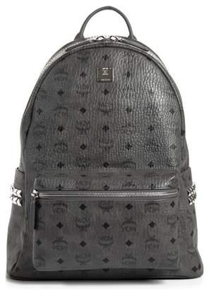 MCM Stark Medium Stud Faux Leather Backpack