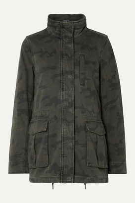 James Perse Camouflage-print Cotton Jacket - Army green