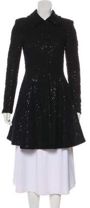 Alice + Olivia Knee-Length Lace Coat