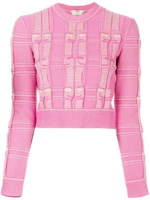 Fendi embroidered cropped sweater