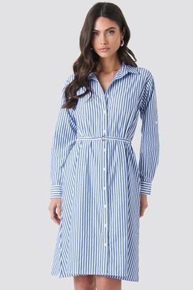 Milla Trendyol Striped Midi Dress Blue