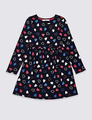 Marks and Spencer Heart Print Dress (3-16 Years)