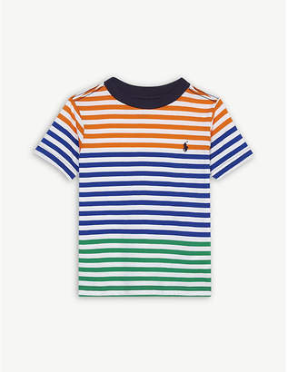 Ralph Lauren Logo striped cotton T-shirt 2-4 years