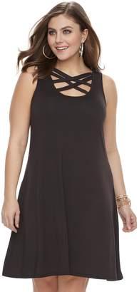 JLO by Jennifer Lopez Plus Size Strappy Fit & Flare Dress