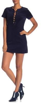 Maac London Bush Lace-Up Corduroy Dress