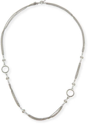 "Armenta New World Three-Strand Scroll Necklace, 24"""