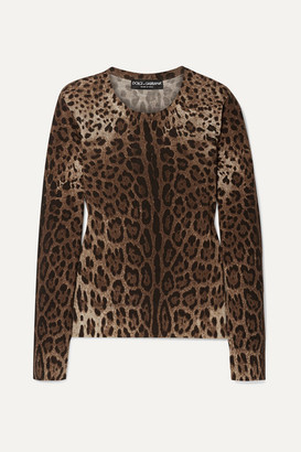Dolce & Gabbana Leopard-print Wool Sweater - Leopard print