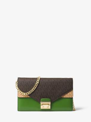 MICHAEL Michael Kors Sloan Logo and Leather Chain Wallet