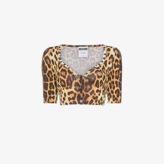 Moschino leopard print crop top