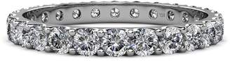 575 Denim TriJewels Diamond 3mm U-Prong Eternity Band 1.80 Carat tw to 2.07 Carat tw 14K White Gold.size