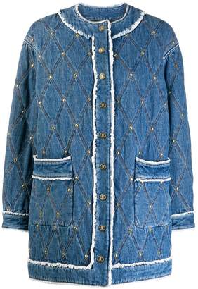 Just Cavalli diamond stitch denim jacket