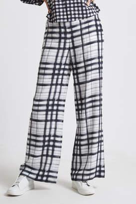 SABA Vie Wide Leg Check Pant