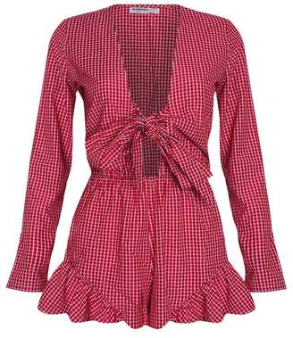 Glamorous Womens **Tie Front Playsuit by Petites