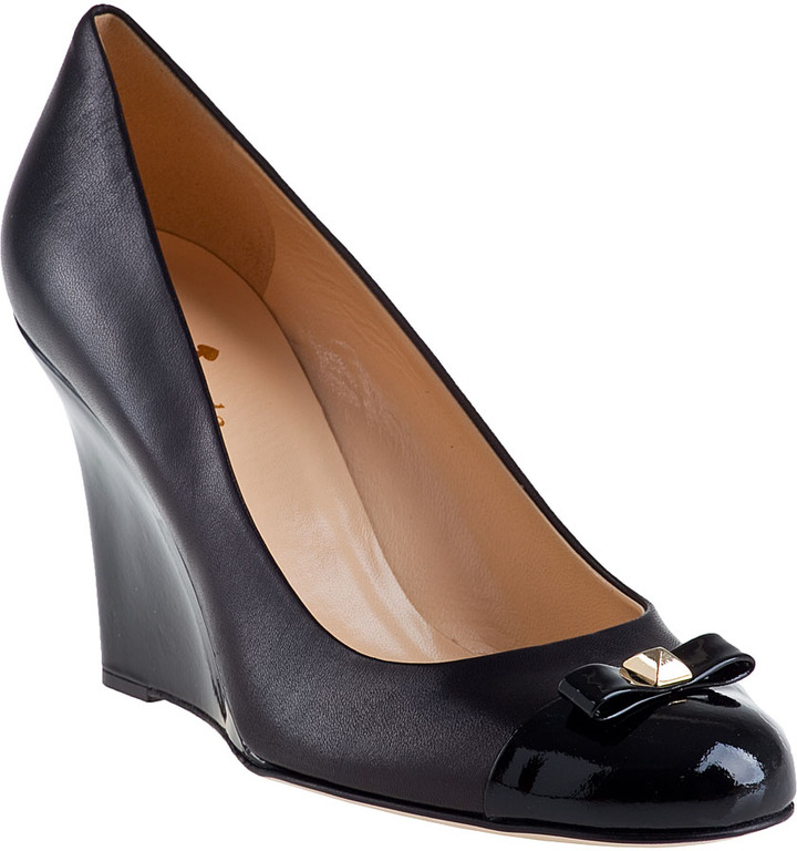 Kate Spade Kandid Wedge Pump Black Leather