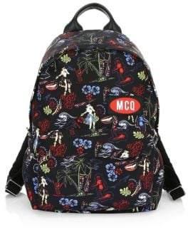 McQ Men's Floral Logo Patch Backpack - Darkest Black