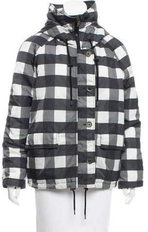 MSGM Hooded Plaid Coat