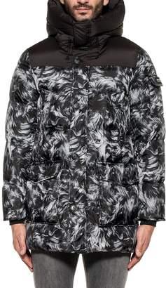 Woolrich Black/white Sierra Sheepskin Hooded Down Jacket