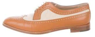 Manolo Blahnik Leather Wingtip Oxfords