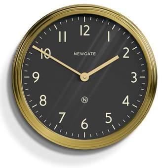 Williams-Sonoma Williams Sonoma Newgate Black & Brass Spy Wall Clock