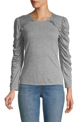 Rebecca Taylor Ruffled Long-Sleeve Jersey Top