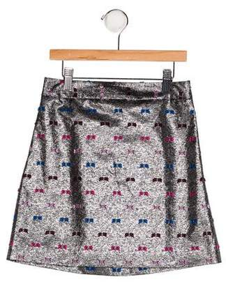 Milly Minis Girls' Metallic A-Line Skirt w/ Tags