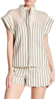 Paul & Joe Sister Santo Front Button Stripe Blouse