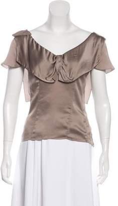 Christian Dior Short Sleeve Silk Top