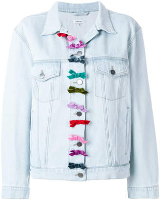 Manoush bows detail denim jacket