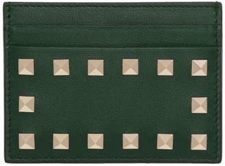 Valentino Green Garavani Rockstud Card Holder