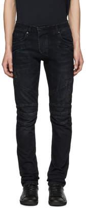 Pierre Balmain Indigo Biker Jeans
