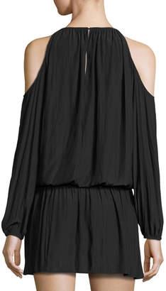 Ramy Brook Lauren Cold-Shoulder Blouson Dress