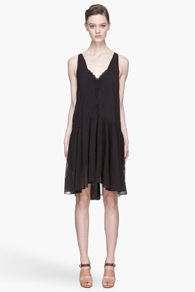 Vanessa Bruno Black Crepon Short Dress