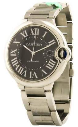 Cartier Ballon Bleu W6920042 Stainless Steel Black Dial Automatic 42mm Men's Watch