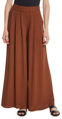 Eileen Fisher Silk Georgette Wide-Leg Pants, Plus Size