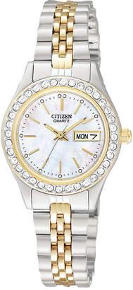 Citizen Quartz Womens Two Tone Bracelet Watch-Eq0534-50d