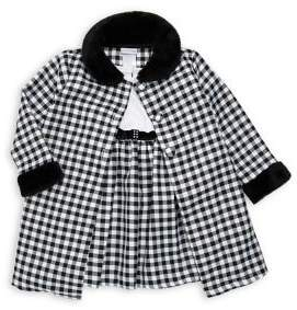 Sweet Heart Rose Sweetheart Rose Baby Girl's Two-Piece Faux Fur Gingham Jacket Set