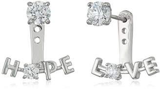 Swarovski Platinum-Plated Zirconia Hope Love Earring Jacket
