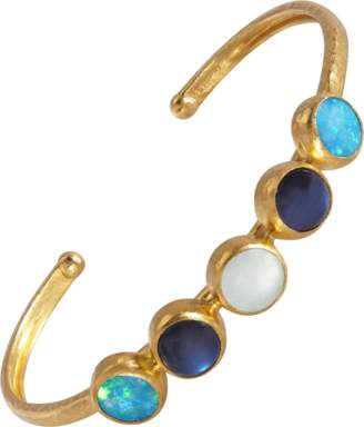 Gurhan Multi Stone Amulet Hue Oval Cuff Bracelet