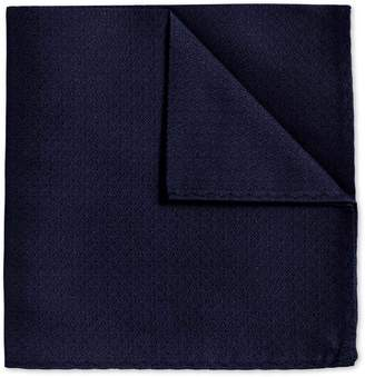 Charles Tyrwhitt Navy Textured Plain Classic Silk Pocket Square