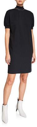 Brunello Cucinelli Monili-Beaded Cotton Jersey Dress