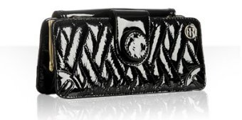 Felix Rey black quilted patent leather 'Gaby' clutch
