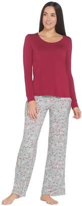 Soma Intimates Soma Cool Nights Long Sleeve Top & Printed Pants Pajama Set