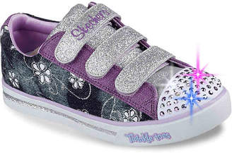 Skechers Twinkle Toes Sparkle Glitz Denim Daisy Toddler & Youth Light-Up - Girl's