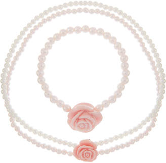 Monsoon Shimmer Rose Pearl Jewellery Set