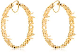 Versace Logo Lettering Hoops Earrings